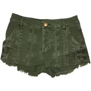 Free People green great expectations shorts 2